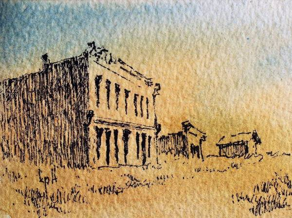 Mixed Media - White Oaks Ghost Town New Mexico by Kevin Heaney