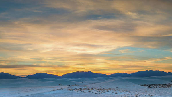 White Sand Photograph - White Sands Sunset by Joseph Smith