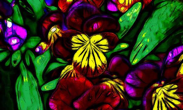 Fleur Digital Art - Wildflowers by Jean-Marc Lacombe