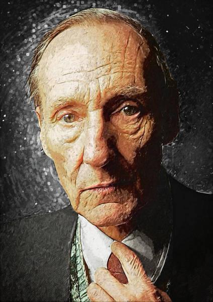 Famous People Digital Art - William S. Burroughs by Zapista Zapista