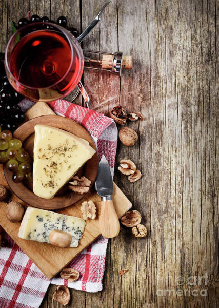 Wall Art - Photograph - Wine And Cheese by Jelena Jovanovic