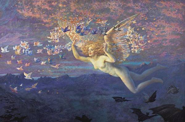 Painting - Wings Of The Morning by Edward Robert Hughes
