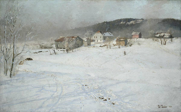 Painting - Winter by Frits Thaulow