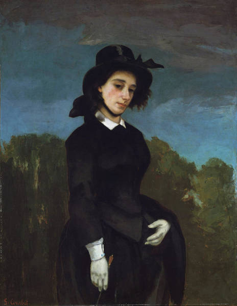 Painting - Woman In A Riding Habit by Gustave Courbet