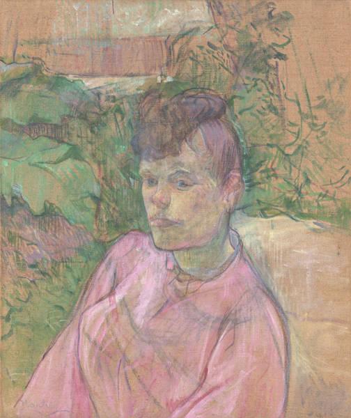 Painting - Woman In The Garden Of Monsieur Forest by Henri de Toulouse-Lautrec