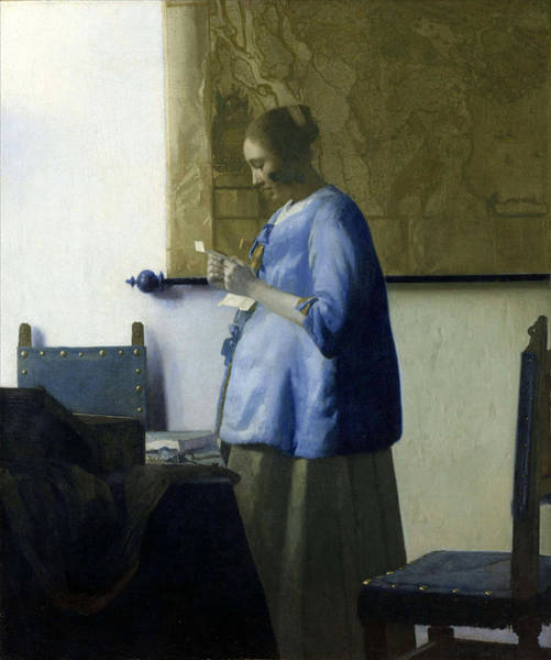 Painting - Woman Reading A Letter by Johannes Vermeer