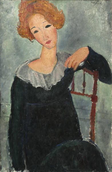 Painting - Woman With Red Hair by Amedeo Modigliani
