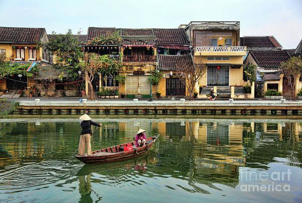 Hoi An Photograph - 2 Women Boat Hoi An Vn by Chuck Kuhn