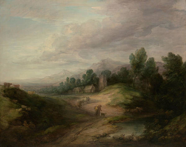 Painting - Wooded Upland Landscape by Thomas Gainsborough