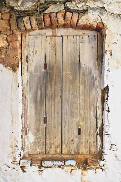 Middle Ages Photograph - Wooden Shutter by Tom Gowanlock