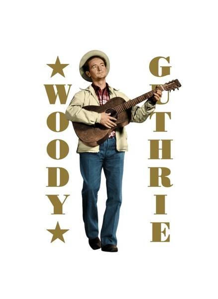 Bob Dylan Digital Art - Woody Guthrie by David Richardson
