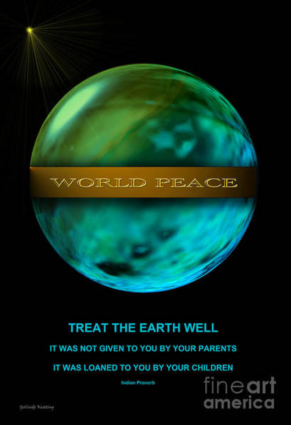 Digital Art - World Peace by Gerlinde Keating - Galleria GK Keating Associates Inc