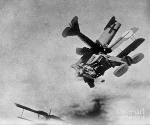 Photograph - World War I: Aerial Combat by Granger