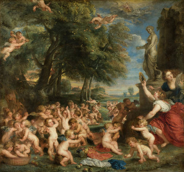 God Of War Wall Art - Painting - Worship Of Venus by Peter Paul Rubens
