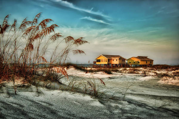 Photograph - 2 Yellow  Beach Houses At Mobile Street by Michael Thomas
