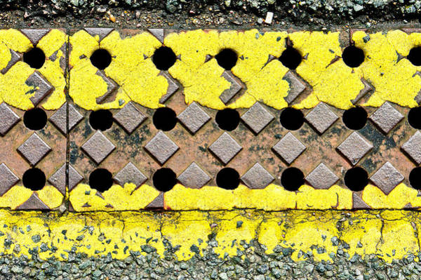Restriction Photograph - Yellow Lines by Tom Gowanlock