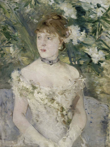 Painting - Young Girl In A Ball Gown by Berthe Morisot