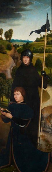 Wall Art - Painting - Young Man At Prayer With St. William Of Maleval by Hans Memling