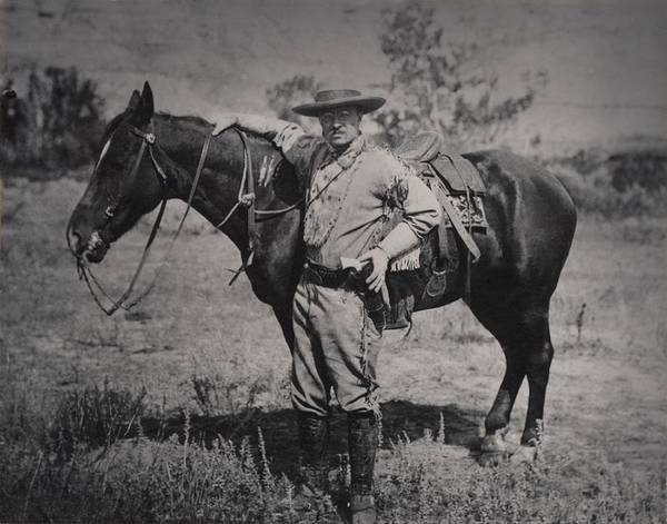 Buckskin Photograph - Young Theodore Roosevelt Dressed by Everett