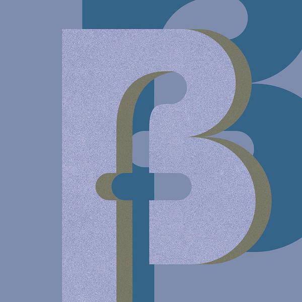 Digital Art - Your Name - B F Or F B Monogram by Attila Meszlenyi