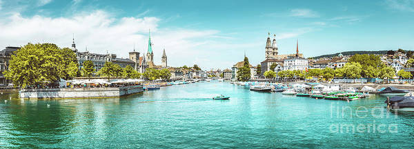 Wall Art - Photograph - Zurich Skyline Panorama by JR Photography