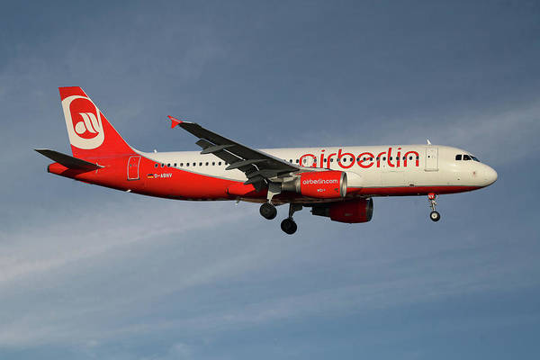 Air Berlin Photograph - Air Berlin Airbus A320-214 by Smart Aviation