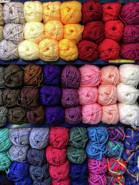 Knit Photograph - Balls Of Wool by Tom Gowanlock