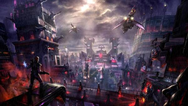Skyline Digital Art - City by Maye Loeser