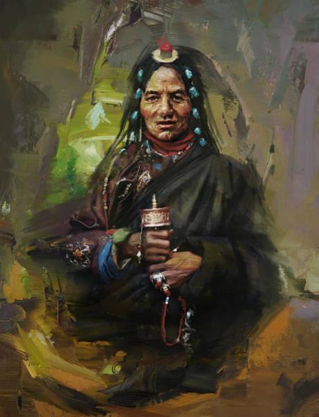 Maryam Wall Art - Painting - 20 Pakistan Folk Gilgit by Maryam Mughal