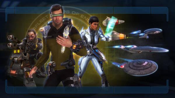 Celebrity Digital Art - Star Trek by Super Lovely