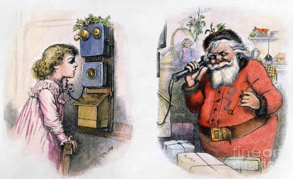 Wall Art - Photograph - Thomas Nast: Santa Claus by Granger