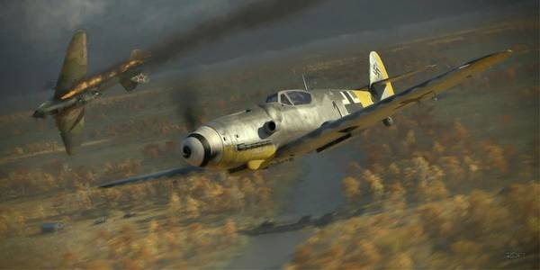 Wwii Wall Art - Digital Art - 200 - Painterly by Robert Perry