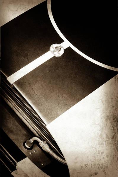 Photograph - 2001 Shelby Cobra Replica Hood Emblem -0355s by Jill Reger