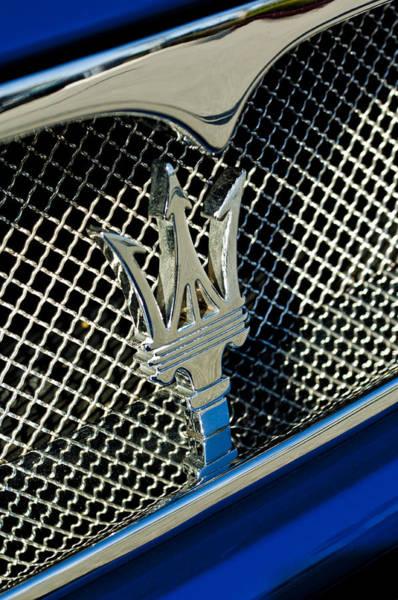 Photograph - 2002 Maserati Combiocorsa Spyder Hood Ornament by Jill Reger