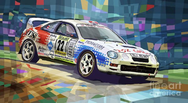Wall Art - Mixed Media - 2002 Slovnaft Valasska Rally Toyota Celica Gt Four Liska Jugas  by Yuriy Shevchuk