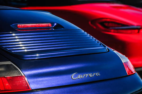 Photograph - 2003 Porsche 911 Carrera Taillight Emblem -2089c by Jill Reger