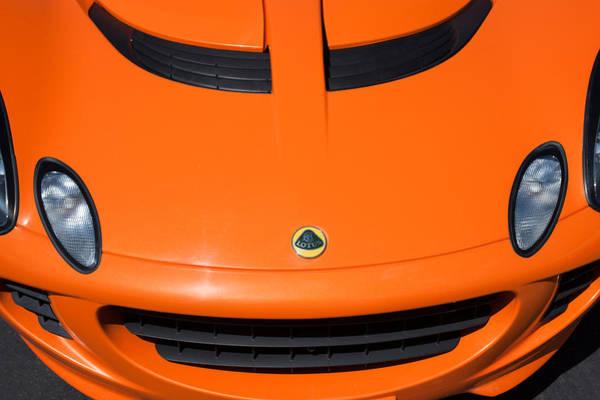 Photograph - 2005 Lotus Elise Hood Emblem -0072c by Jill Reger