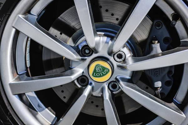 Photograph - 2005 Lotus Elise Wheel Emblem -0079c by Jill Reger