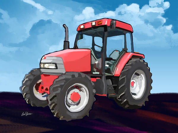 Utility Painting - 2006 Mccormick Cx95 Farm Tractor by Brad Burns