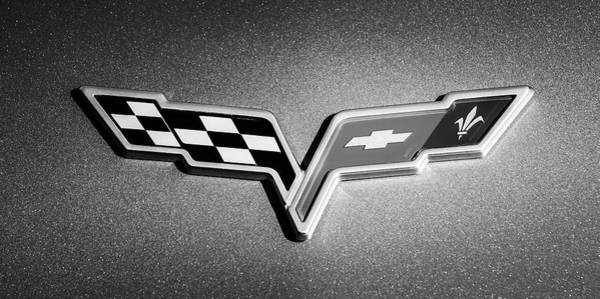 Photograph - 2007 Chevrolet Corvette Indy Pace Car -0301bw by Jill Reger