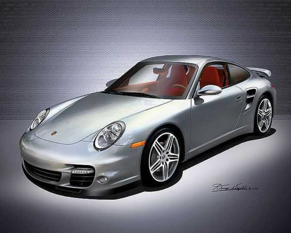 Car Drawings Mixed Media - 2007 Porsche  911 Turbo by Danny Whitfield