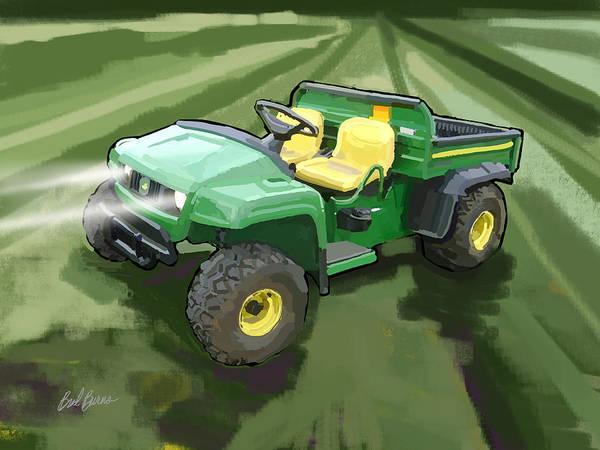 Utility Painting - 2008 John Deere Ts Gator Utility Vehicle by Brad Burns