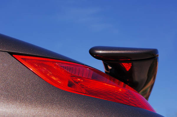 Photograph - 2008 Porsche Turbo Cabriolet Tail Fin by Jill Reger
