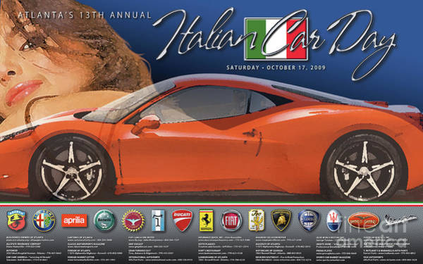 2009 Atlanta Italian Car Day Poster Art Print