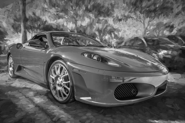 Photograph - 2009 Ferrari F430 Spider Convertible Painted Bw by Rich Franco