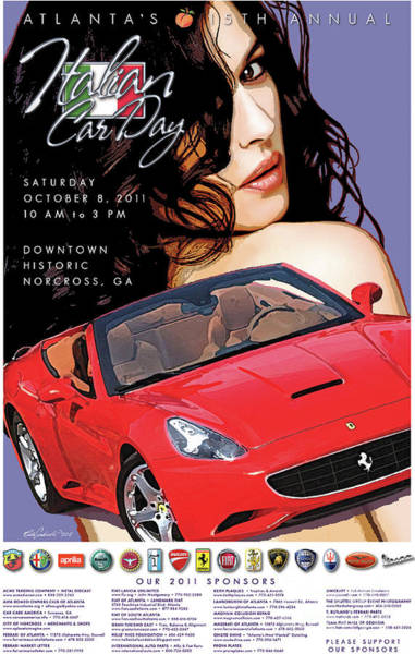 2011 Atlanta Italian Car Day Poster Art Print