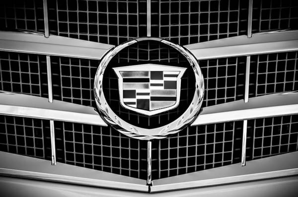 Cts Photograph - 2011 Cadillac Cts Performance Collection Emblem -0584bw by Jill Reger