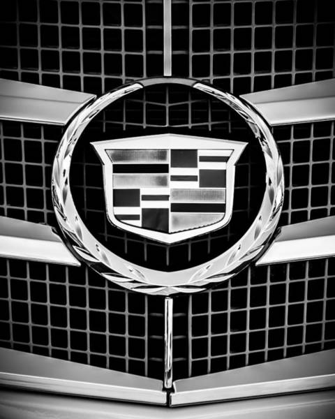 Photograph - 2011 Cadillac Cts Performance Collection Emblem -0584bw45 by Jill Reger