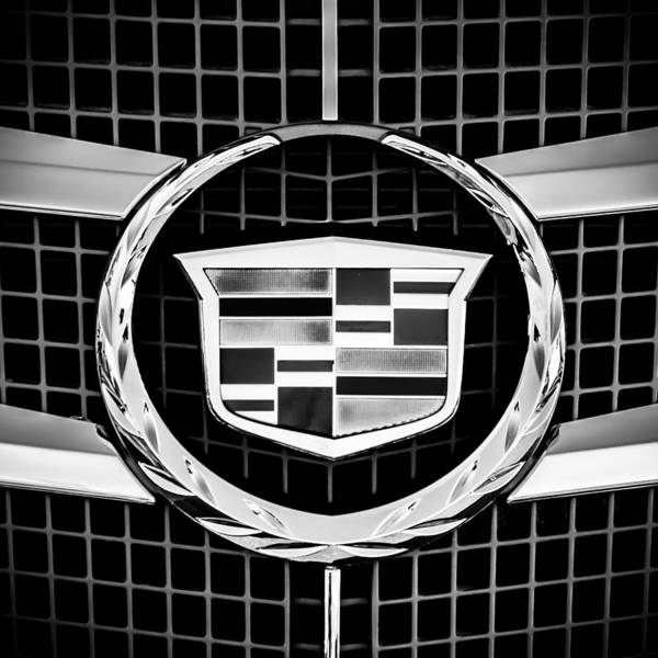 Wall Art - Photograph - 2011 Cadillac Cts Performance Collection Emblem -0584bw55 by Jill Reger