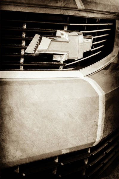 Wall Art - Photograph - 2011 Chevrolet Camaro Grille Emblem -0321s by Jill Reger